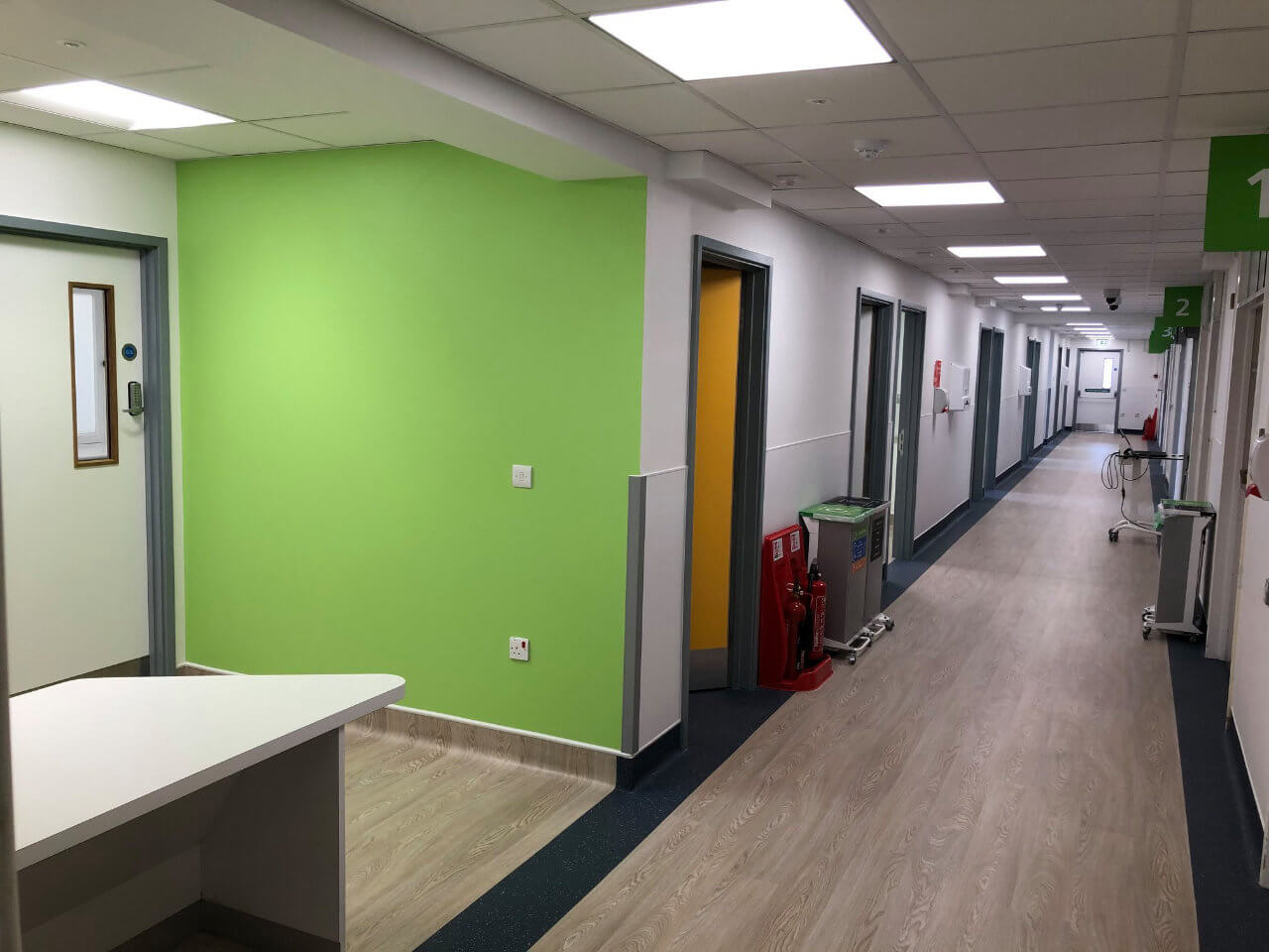 We were the contractors for a Healthcare sector project for Kingston Hospital OPD